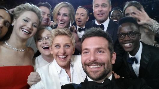 Ellen's epic selfie Oscars 2014